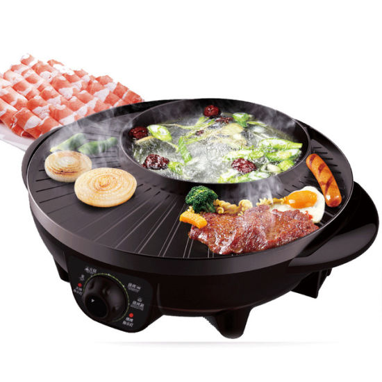 Electric Multi Cooker Dish Roast Integrated Purpose Hot Pot Electric Grill Oven Skillet as One Convenient Cooking Machine