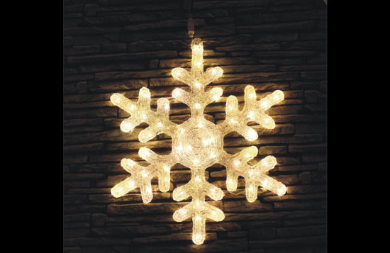 Outdoor Christmas Holiday Decoration LED Solar Snowflake Motif Acrylic Light pictures & photos