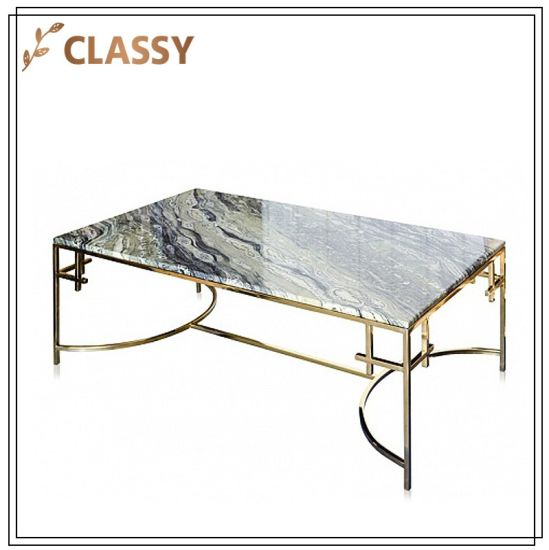 Top Marble Dining Room Furniture Golden Frame Table
