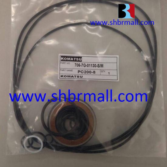track adjuster/control valve/joystick/swing motor/pilot valve/center joint  seal kits for komatsu excavators  pc200-8/206-30-22120/706-7g-01330/703-08-33610