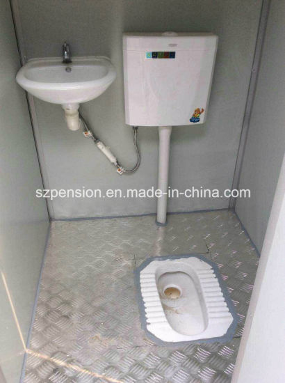 Low Pay Convenient Mobile Prefabricated/Prefab Public Toilet House for Hot Sale pictures & photos