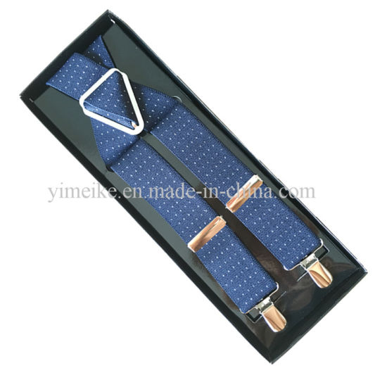 Customized Metal Clips Wholesale X Suspenders Elastic Suspender with Factory Price