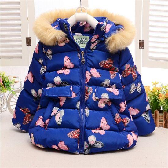 8141e1f84 China C12811hot Sale Winter Baby Kids Girls Cute Eiderdown Coat ...