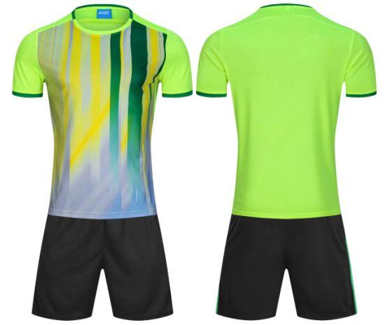 2f822c7ca7c China 2018 Fashion Men Green White Soccer Uniforms - China Green ...