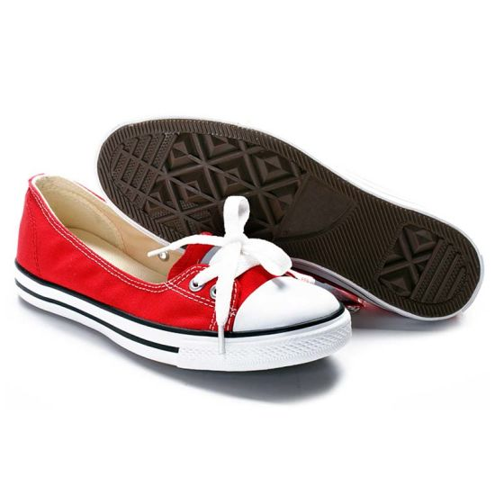 Global Selling Flat Style Plain White Canvas Shoes for Ladies/Girls pictures & photos