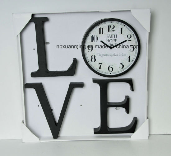 Plastic Wall Decor with Clock Set pictures & photos
