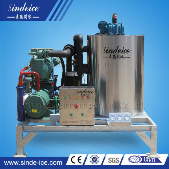 on Boat Seawater Flake Ice Making Machine 5t/Day for Fishery Cooling