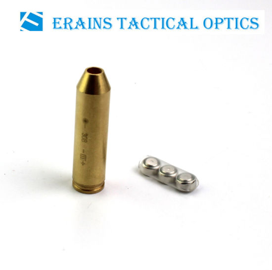 Erains Tac Optics Gold Full Brass Cal: . 9 Cartridge Red Laser Pointer Bore Sighter (ES-LCBS-11) pictures & photos