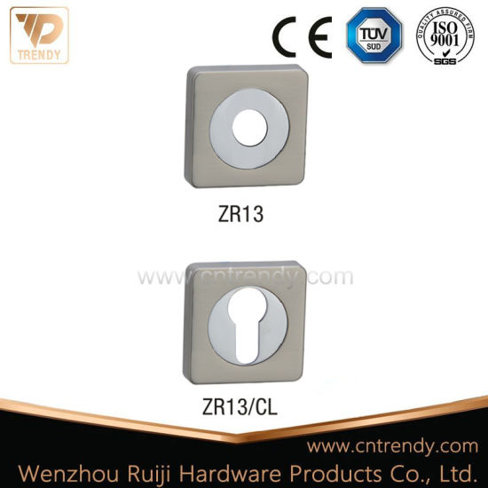 Zinc Alloy Aluminum Square Rose/ Escutcheon with Cylinder Key Hole pictures & photos