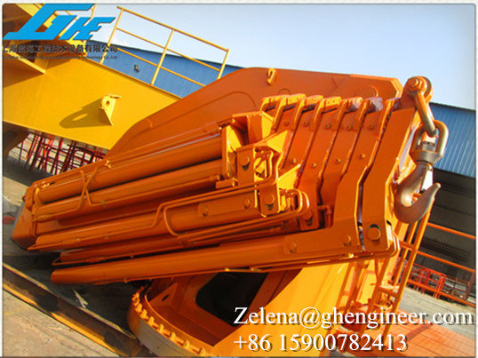 5t20m Knuckle Telescopic Boom Crane pictures & photos