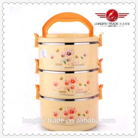 Three Layers 2 PCS Set Heat Preservation Lunch Box pictures & photos