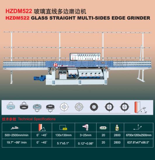 Hzdm522 Glass Straight Line Multi Sides Edge Grinder Machine Tn119