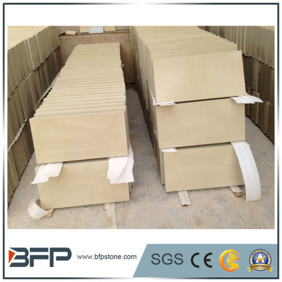 Natural Stone Floor Tile Beige Sandstone for Interior Design and Outside Flooring Wall pictures & photos