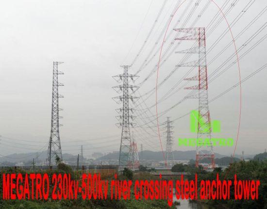 China Megatro 230kv Suspension Mc Anchor Transmission Steel Tower