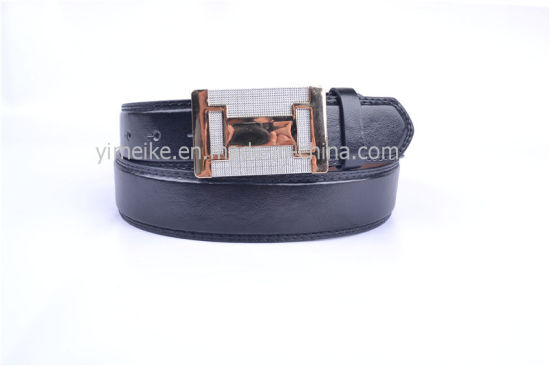Good Quality Casual Snap Buckle PU Leather Belt for Man pictures & photos