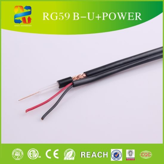 Coaxial Cable Rg59+Power Copper Cable OEM