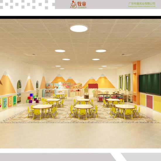 China Modern Furniture Wooden Classroom Furniture for Kindergarten Use