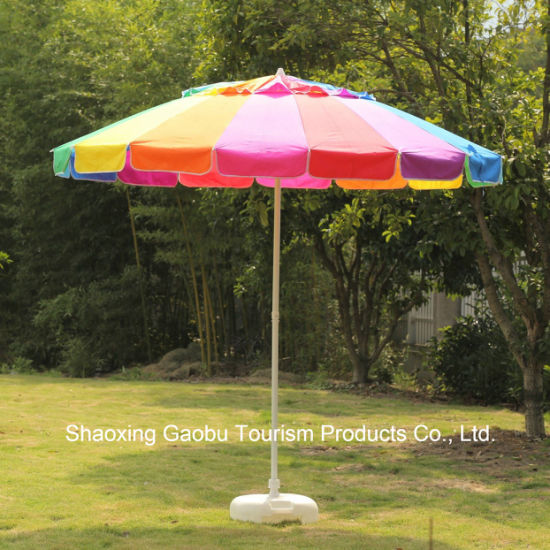 Colorful Rainbow Beach Umbrella with Tilt pictures & photos
