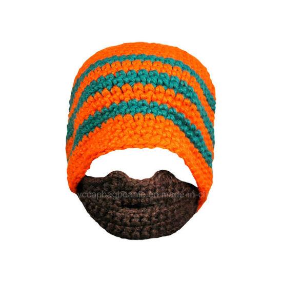 84e5e5b5 China Classic Design All Custom Hand Crochet Knitted Beard Beanie ...
