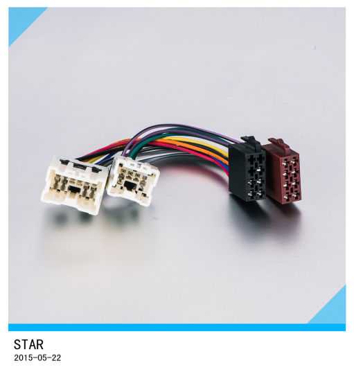 china manufacture new style car 8 pin stereo auto iso radio wiring rh starconnect en made in china com Automotive Wiring Harness Connectors Painless Wiring Harness