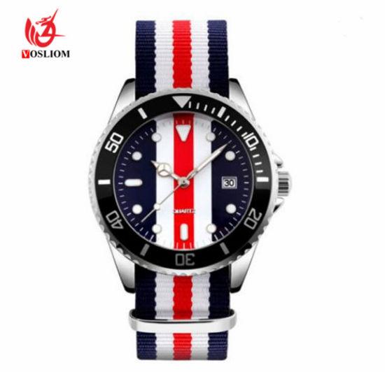 Wholesale ODM Rolexable Style Nylon Fabric Belt Men Wrist Sports Watches # V507