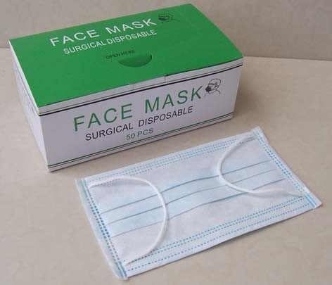 Earlooped Surgical Nonwoven Face Mask Disposable Type pictures & photos