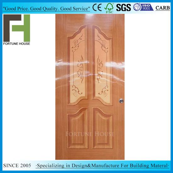 China Flat Plywood Door With Glossy Paper Veneer China Wood Door