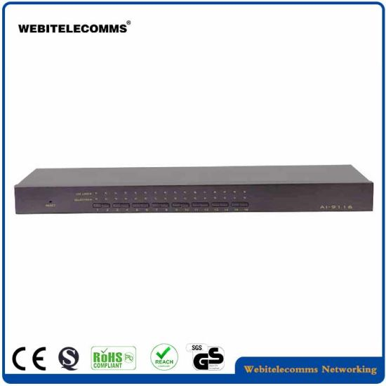 """Remote Controlled 19"""" VGA Kvm Switch Without LCD"""