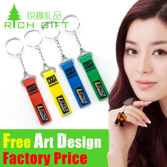 Factory Price Custom PVC Keychain for Dog Clip Metal Fashion
