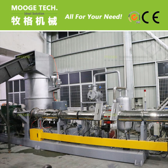 waste PET fiber pelletizing line / polyester fiber granulator pictures & photos