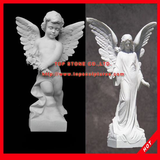 Garden Statues Small Angel Marble Statues Sculptures