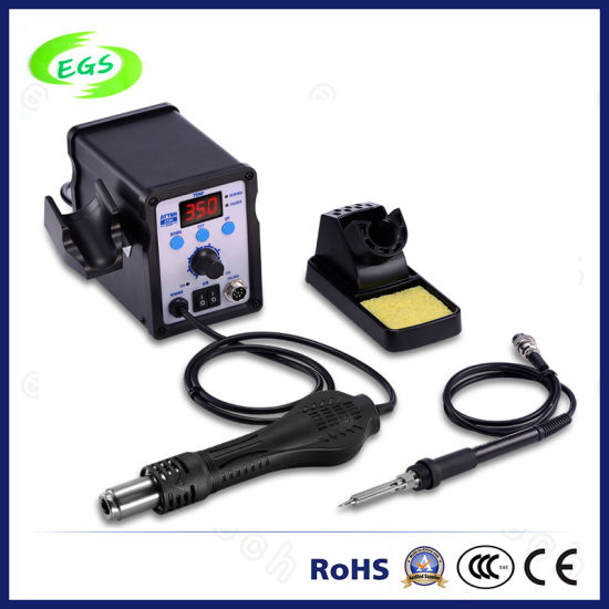 Double Channel Hot Air Digital Rework Station with Soldering Iron (AT8586)