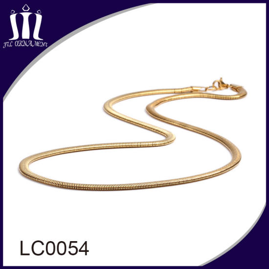 China Wholesale Gold Fake Snake Chain Necklace China Gold Chain