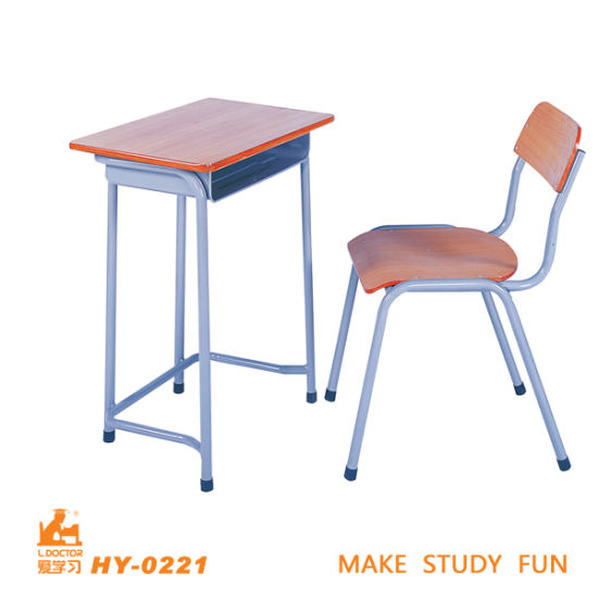 China Wooden And Steel Frame Desk Chair For High College China