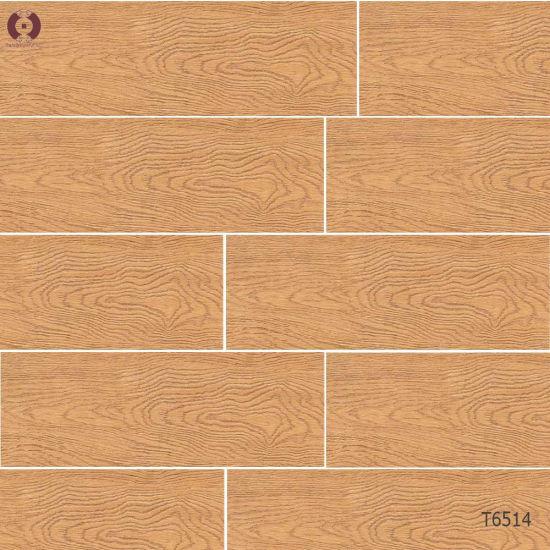 China Bathroom Tiles Building Material Wooden Grain Ceramic Floor