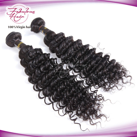 Deep Wave Virgin Brazilian Human Hair Weaving 100% Virgin Hair pictures & photos