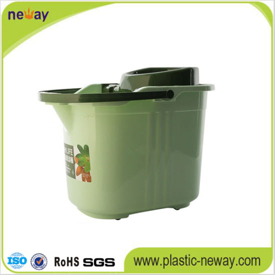 Spin Plastic Wheelie Mop Bucket with Factory Price pictures & photos