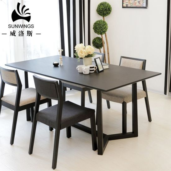 Modern Dining Room Furniture Nordic Design Wooden Dining Table and 4 Chairs Set