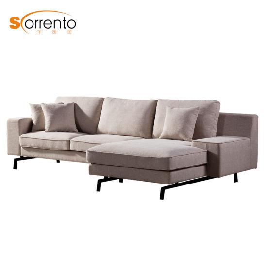 Corner Sofa With Stainless Steel Leg