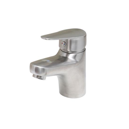 Luolin Bathroom Basin Faucet Stainless Steel 304 Vanity Mixer Sink Tap Hand Wash Lavatory Bidet, Brushed 182-10