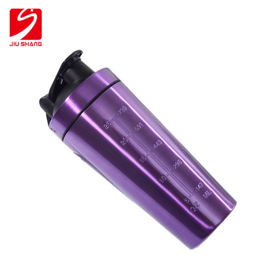 Single Wall Sports Water Bottle Vacuum Cup with Scale