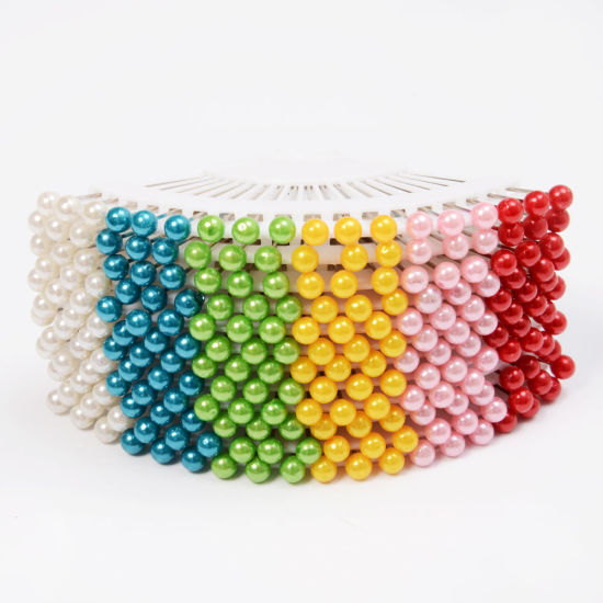 18PCS Assorted Color Plastic Pearl Weddings Corsage Ball Head Sewing Pins pictures & photos