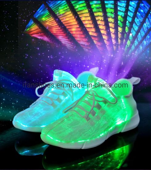Hot Selling LED Light Shoes for Men, Women and Children Shoes with USB Charge 7 Lights Sport Shoes