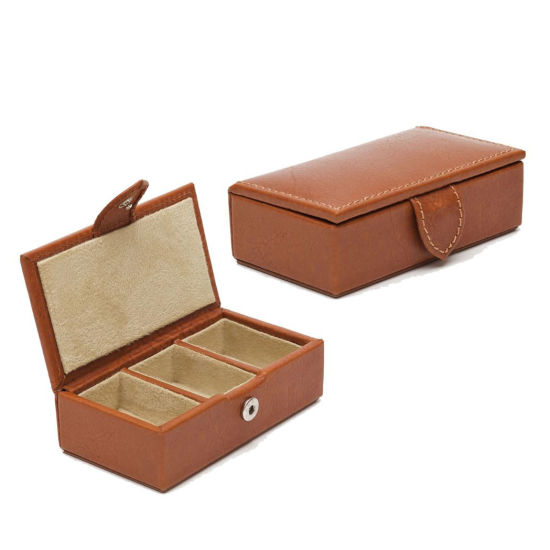 Chinese Factory Supplier Wholesale Custom Brown Cufflink Gift Cases pictures & photos