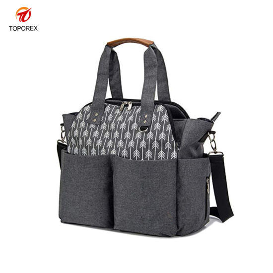 Manufacturers Wholesale Fashion Mommy Tote Handbag Outdoor Leisure Shoulder Maternity Nappy Diaper Bag