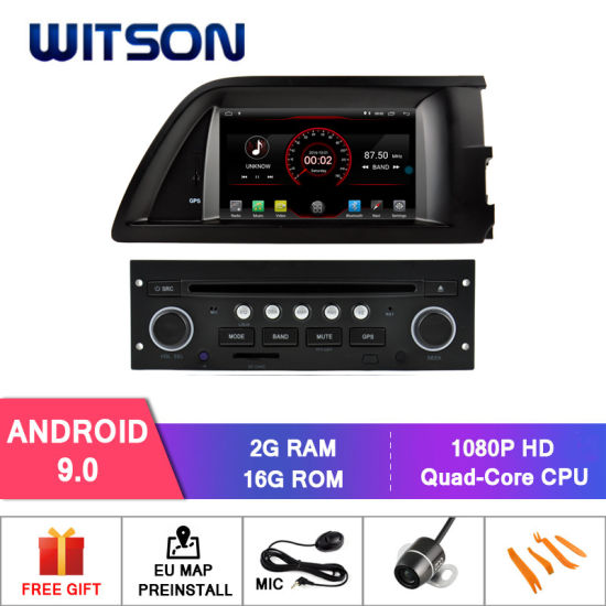 Witson Quad-Core Android 9.0 Car DVD Player for Citroen C5 Vehicle Video Multimedia 2g RAM 16GB ROM
