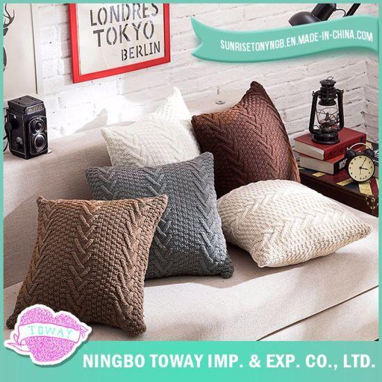 Sofa Cushion Braided Chunky Knitting Decorative Custom Throw Pillow Cover c0e8409c6350