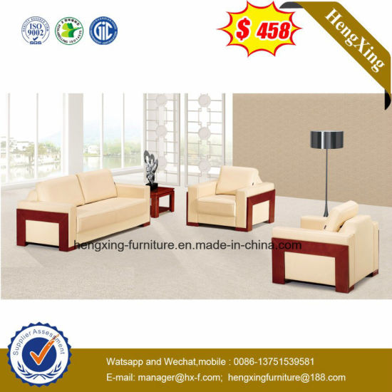New Design Classic Office Leather Sofa with Stainless Frame (HX-CS070) pictures & photos