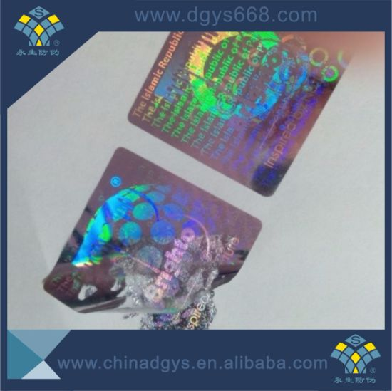One Time Use Laser Sticker Printing pictures & photos