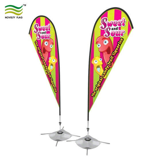 Event Trade Show Flying Swooper Beach Feather Bow Rectangle Teardrop Backpack Flag Banner pictures & photos